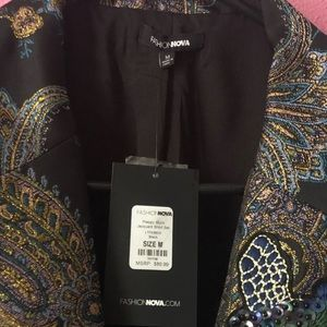 Fashion Nova Jackets & Coats - Fashion Nova Preppy much Jacquard shorts set